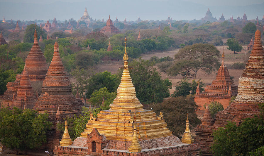 Stupas And Temples In The  Bagan Photograph by Mint Images - Art Wolfe