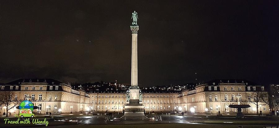 Castle Photograph - Stuttgart at Night by Wendy Payne