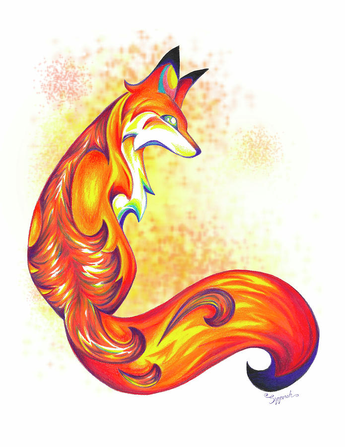 Stylized Fox I by Sipporah Art and Illustration