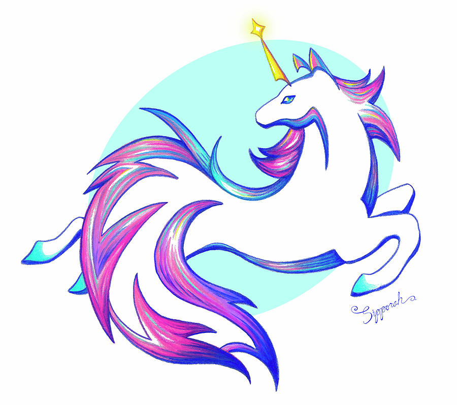Stylized Unicorn I by Sipporah Art and Illustration