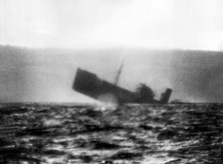 Sub Sinks Japanese Freighter by Underwood Archives