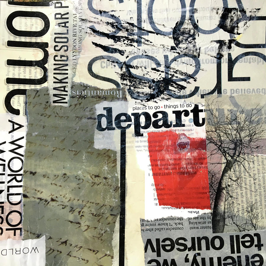 Subtext No. 1 Collage Art by Nancy Merkle