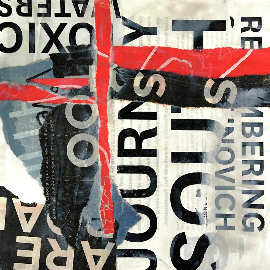 Subtext No. 2 Collage Art by Nancy Merkle