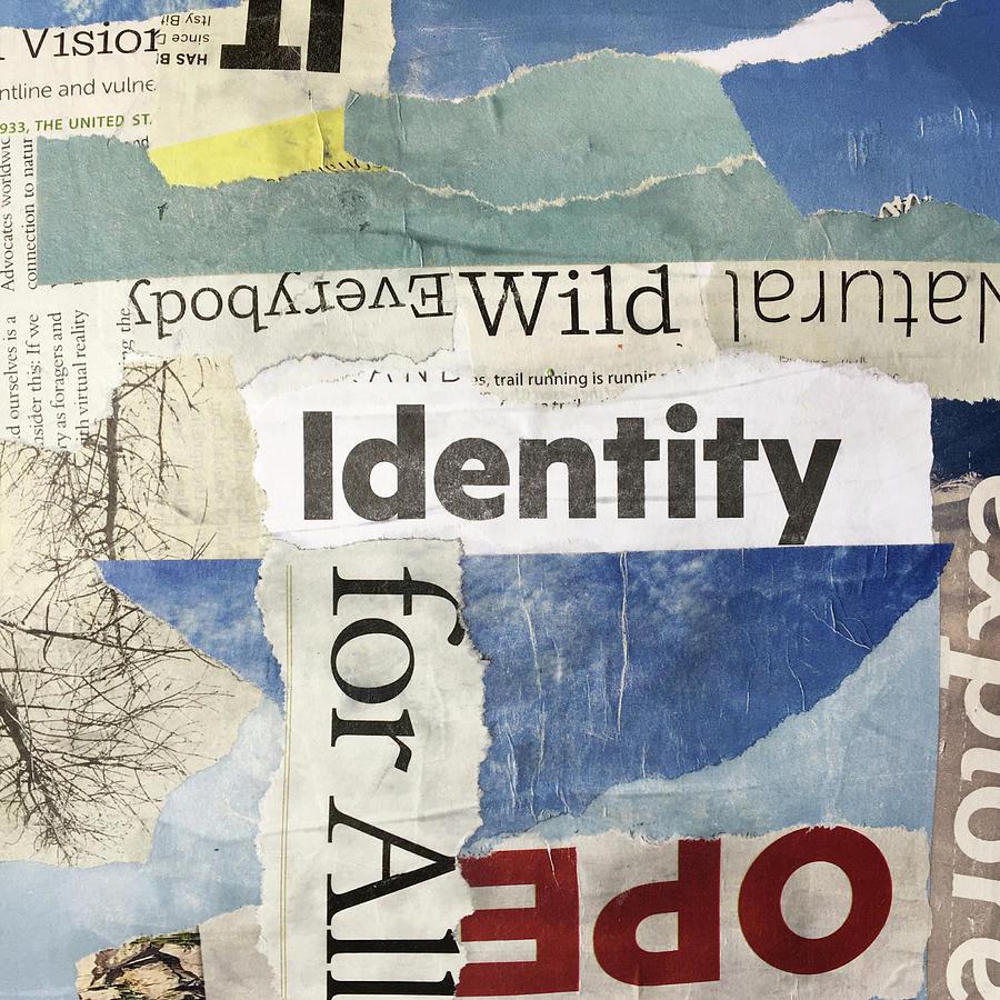 Subtext No. 3 Collage Art by Nancy Merkle