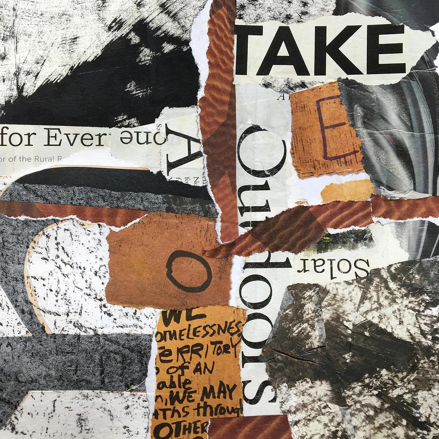 Subtext No. 4 Collage Art by Nancy Merkle