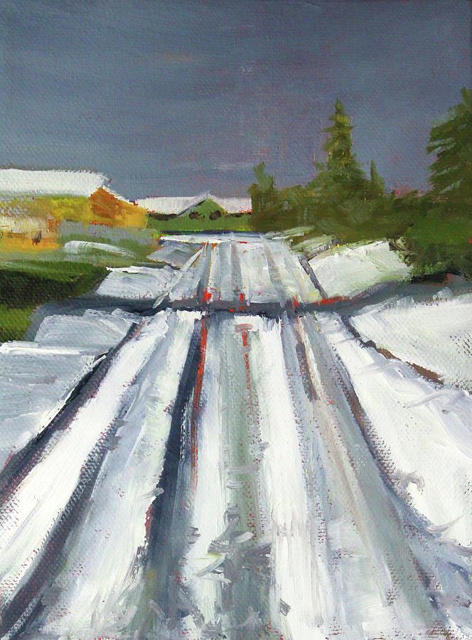 Suburban Winter by Nancy Merkle