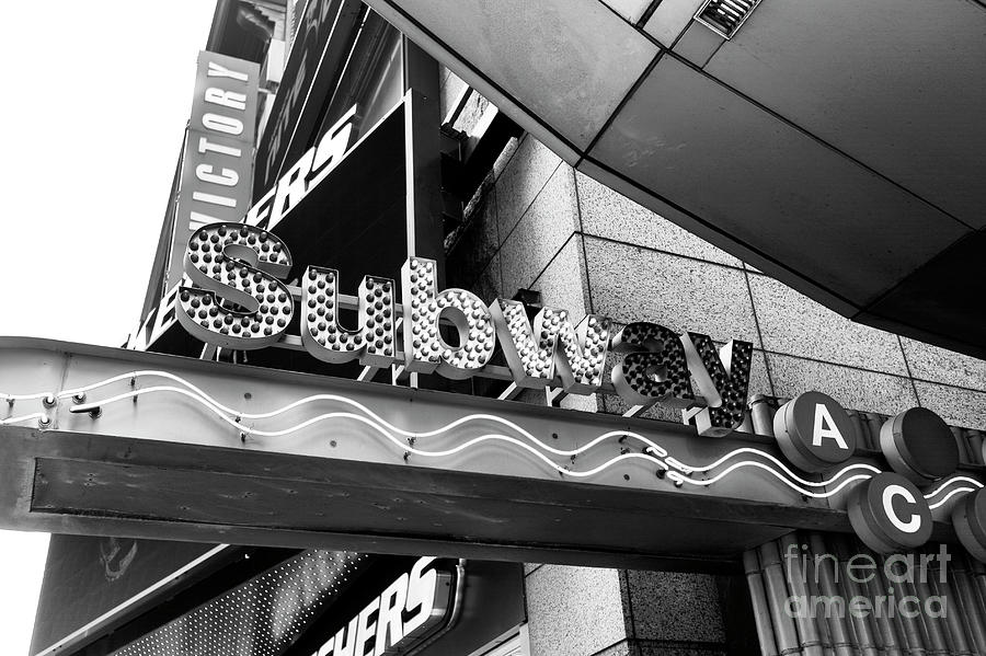 Subway Photograph - Subway A C Lines New York City by John Rizzuto