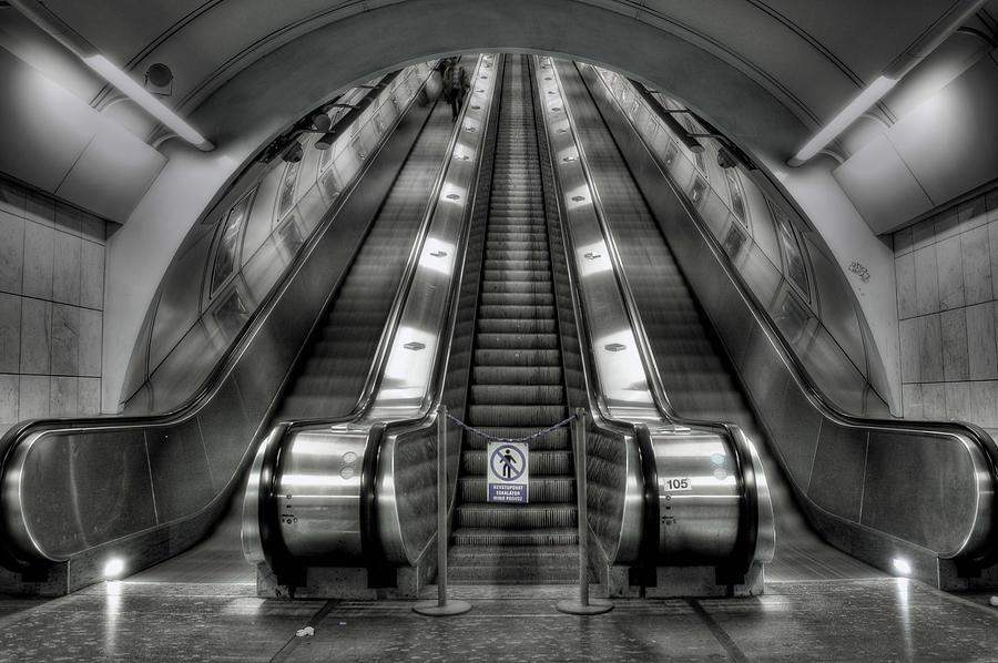 Subway Escalator Photograph by Steve Coleman (stevacek)