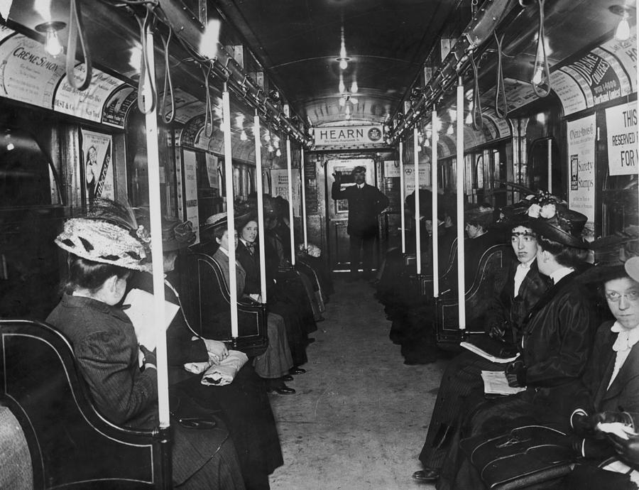 Subway Passengers Photograph by Hulton Archive