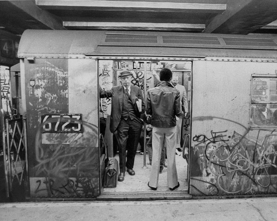 Subway Riders Head For Work On A Photograph by New York Daily News Archive