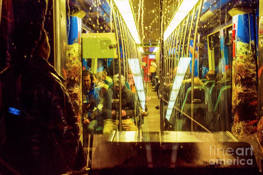 Subway Train Interior and Passengers by Guido Koppes