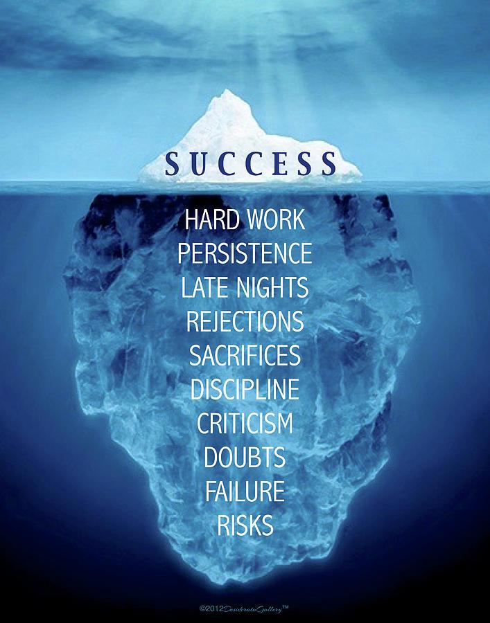 Success Iceburg Quote by Desiderata Gallery