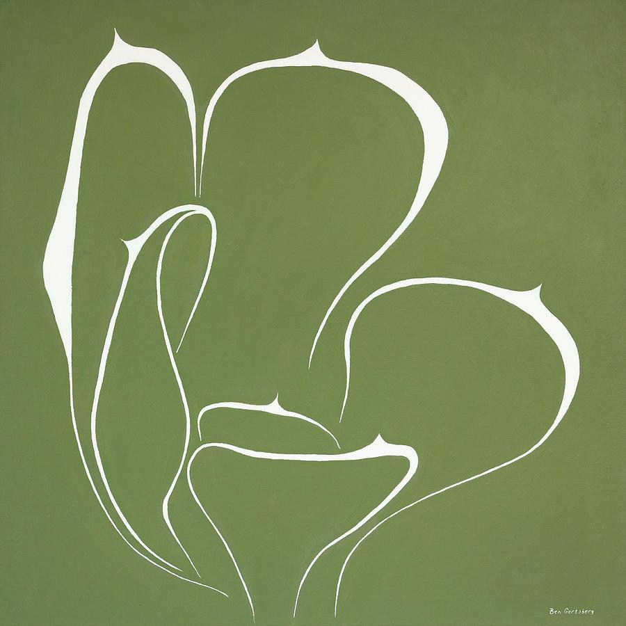 Succulent In Green by Ben Gertsberg