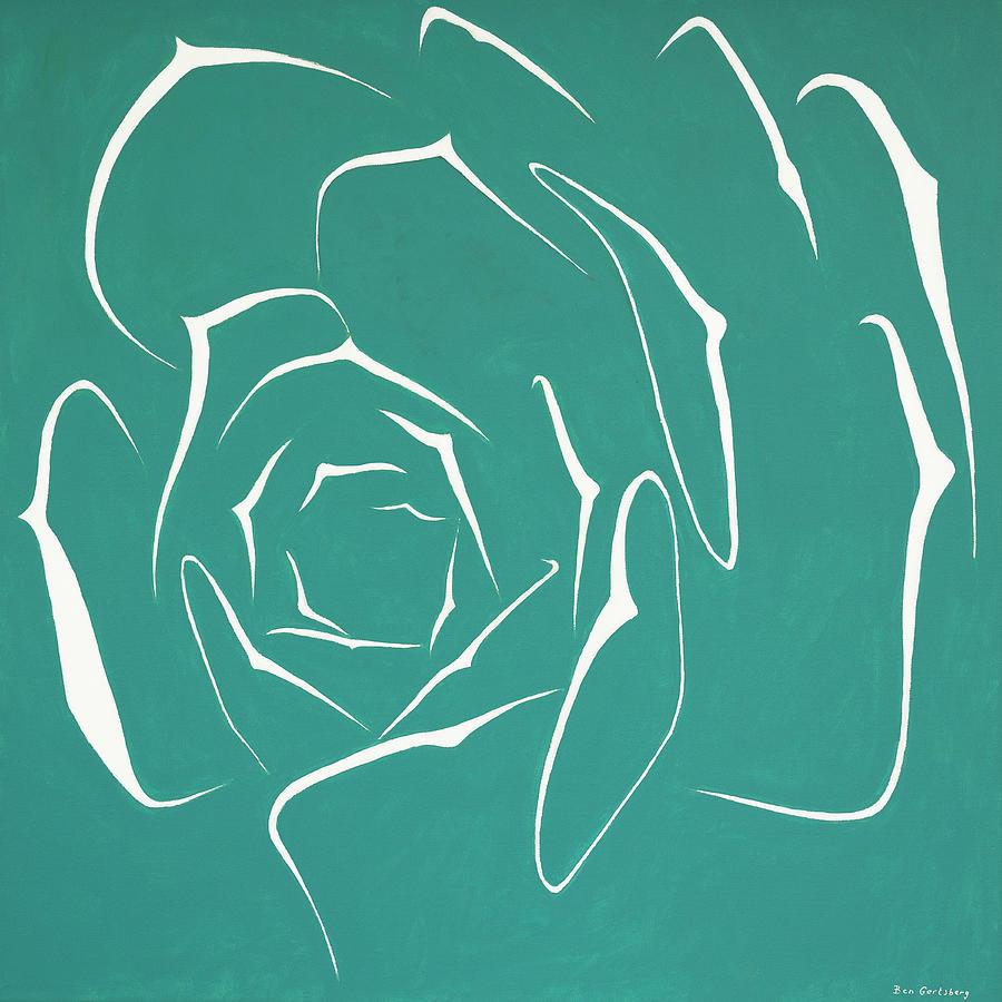 Succulent In Turquoise by Ben Gertsberg