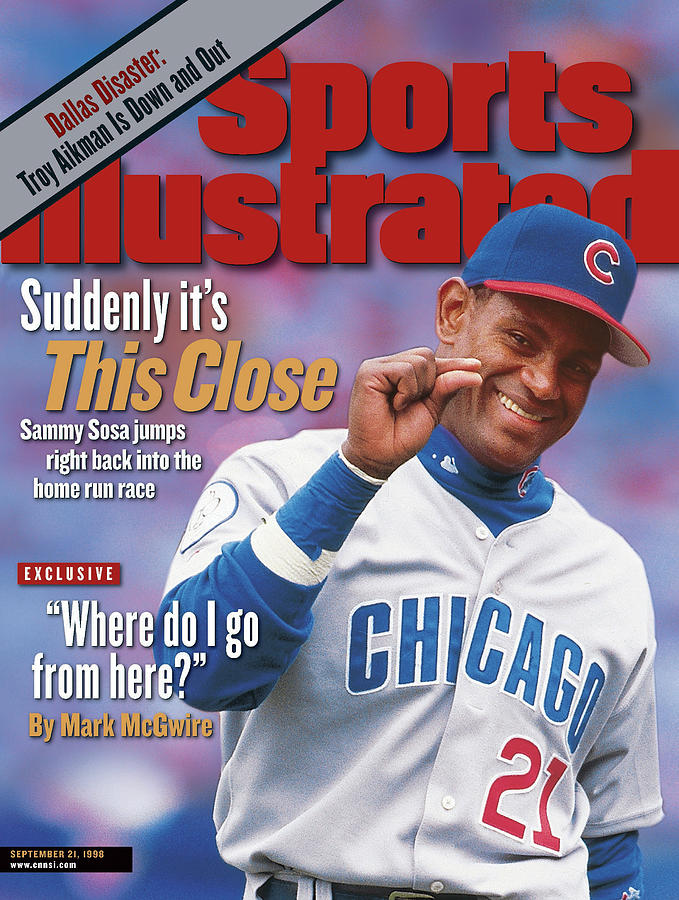 Suddenly Its This Close Sammy Sosa Jumps Right Back Into Sports Illustrated Cover Photograph by Sports Illustrated