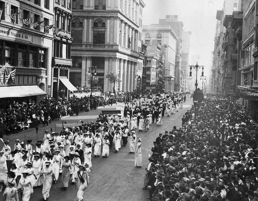 Suffragette Parade Photograph by Paul Thompson