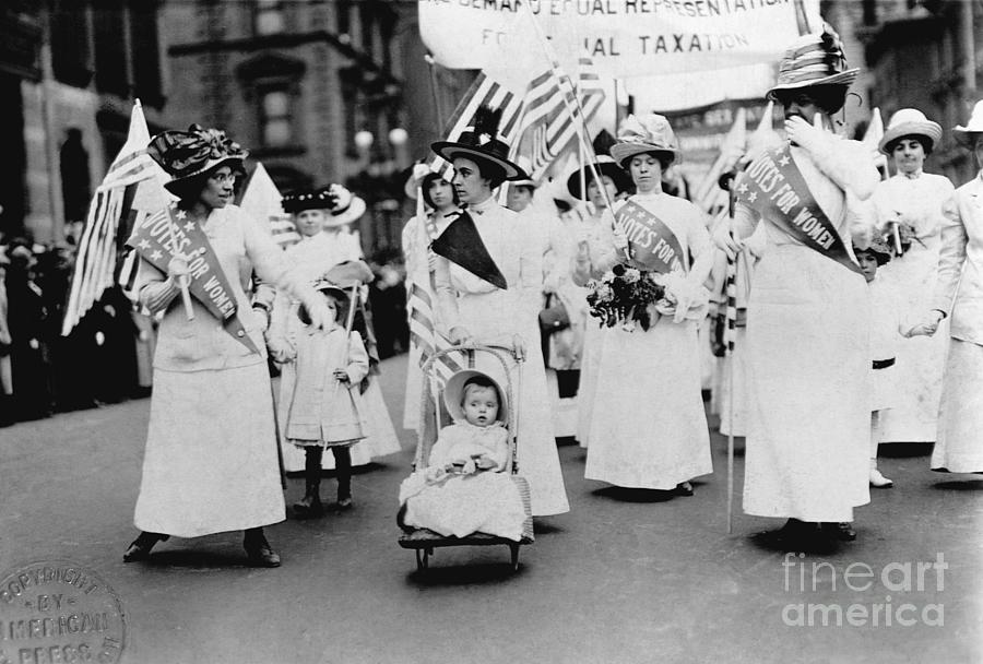 Suffragettes During March For The Vote Photograph by Bettmann