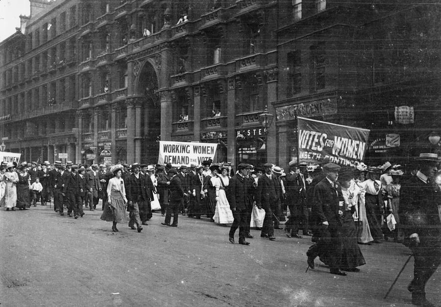 Suffragettes Photograph by F. J. Mortimer
