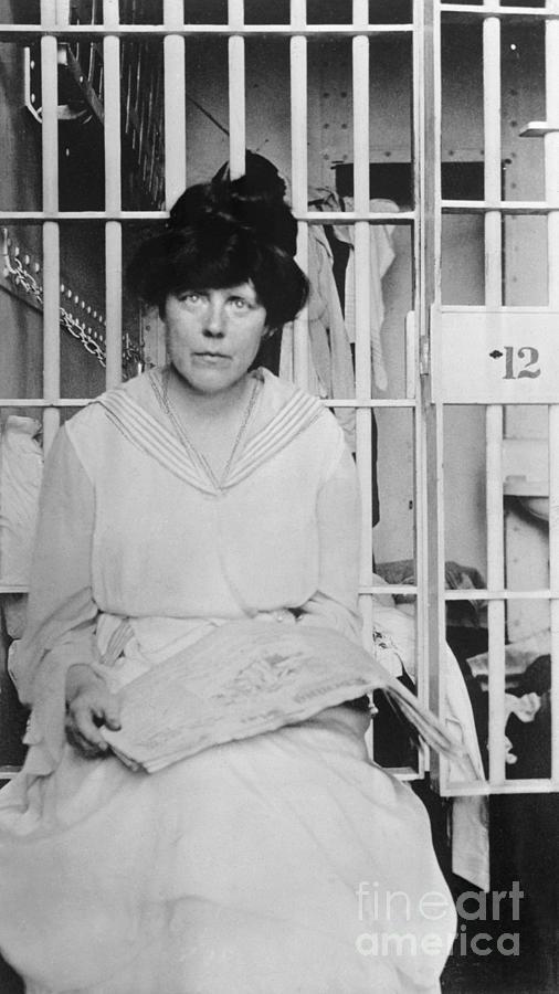 Suffragist Lucy Burns In Jail Photograph by Bettmann