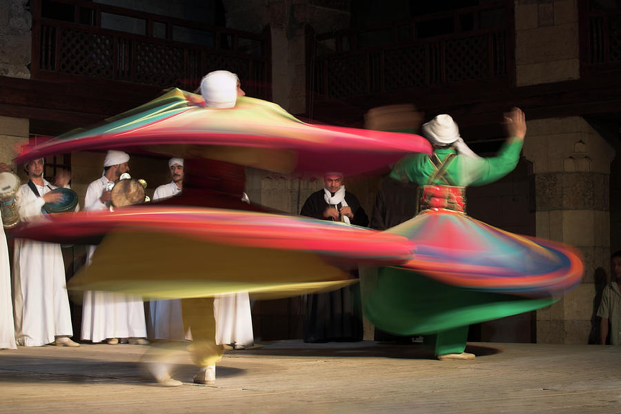 Sufi Dancers At A Traditional Show In Photograph by David Clapp