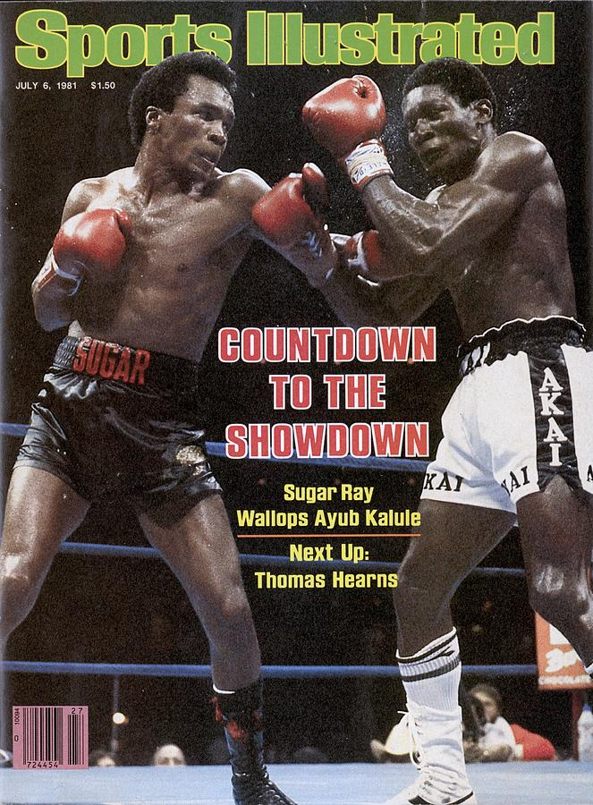 Sugar Ray Leonard, 1981 Wba Light Middleweight Title Sports Illustrated Cover Photograph by Sports Illustrated
