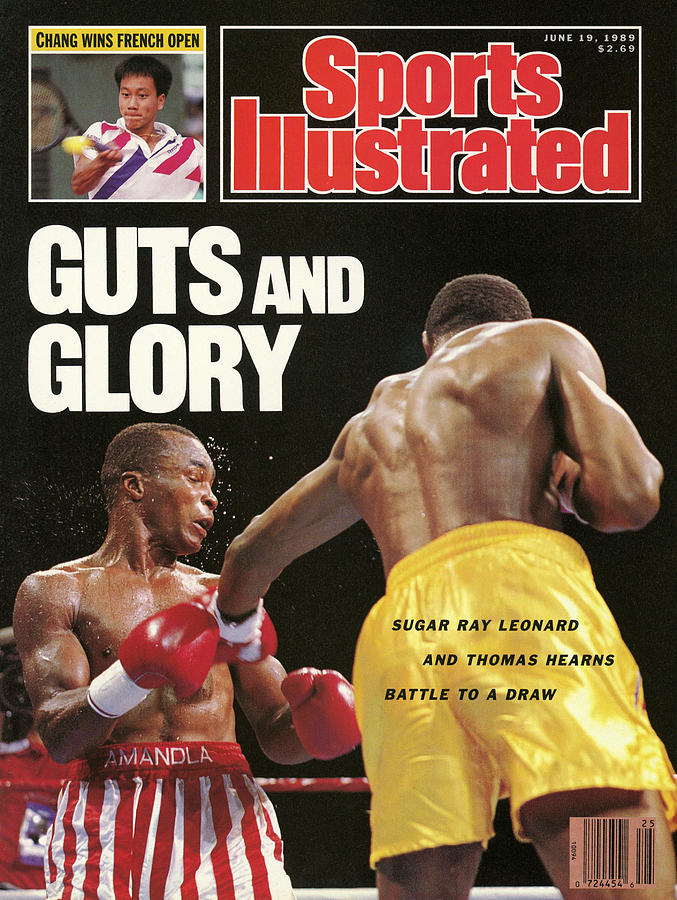 Sugar Ray Leonard, 1989 Wbc Wbo Super Middleweight Title Sports Illustrated Cover Photograph by Sports Illustrated