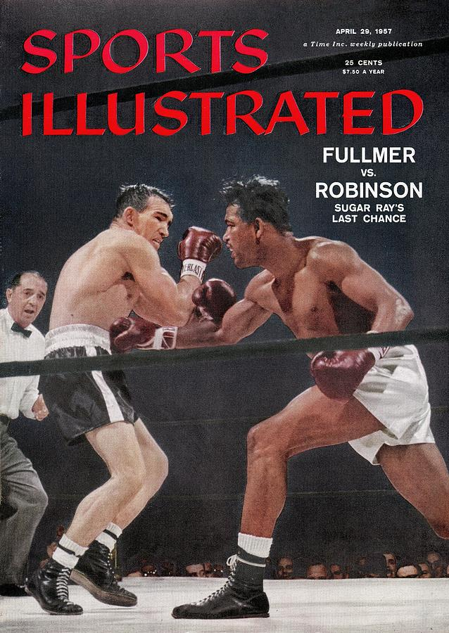 Sugar Ray Robinson, 1957 World Middleweight Title Sports Illustrated Cover Photograph by Sports Illustrated