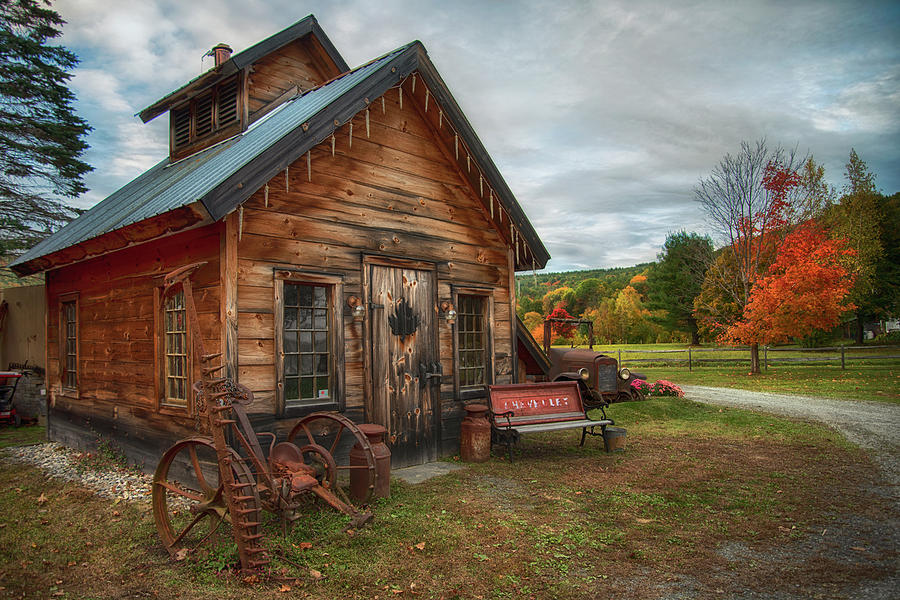 Sugar Shack in Autumn by Joann Vitali