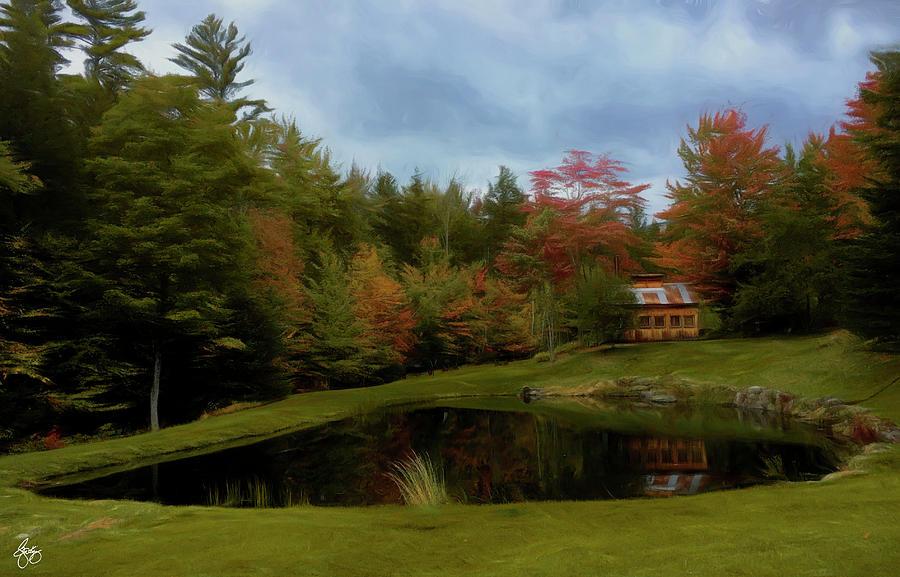 Sugarhouse Pond Impressions by Wayne King