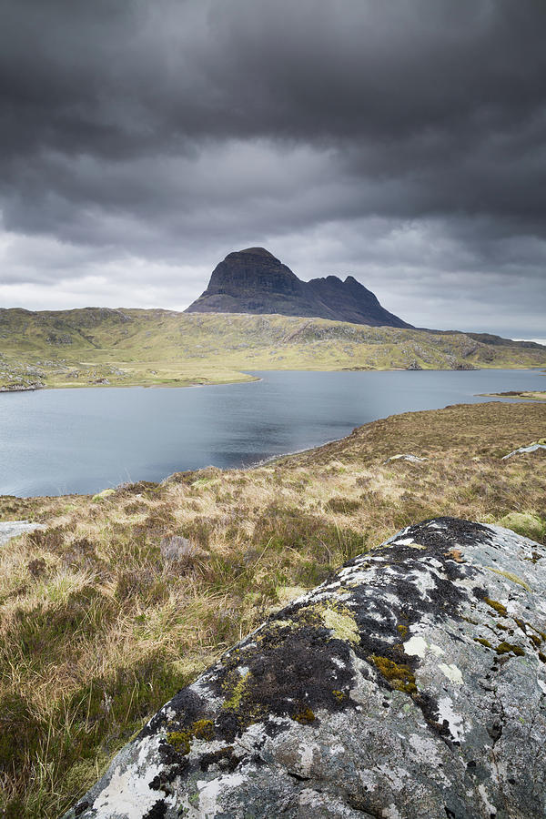 Landscape Photograph - Suilven On A Stormy Day by Anita Nicholson