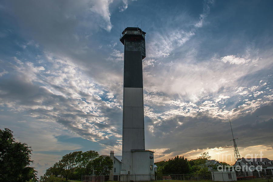Sullivan's Island Lighthouse - Charleston South Carolina - Beautiful Sky by Dale Powell