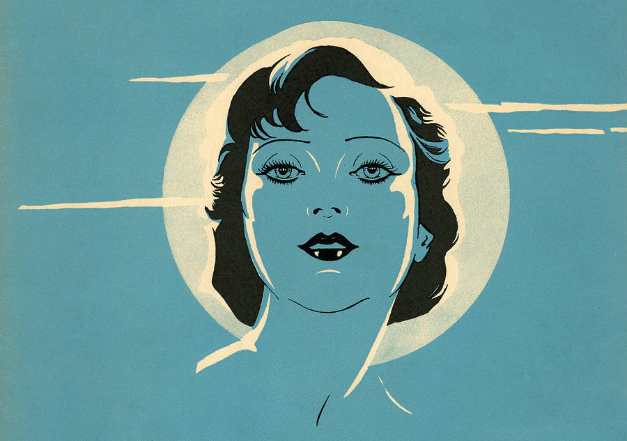 Sultry Woman And Full Moon Digital Art by Graphicaartis