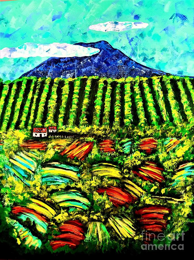 Sumatra Coffee Plantation Painting by Allison Constantino