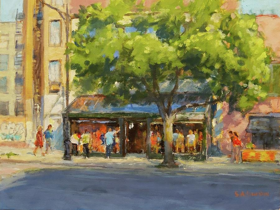 New York Painting - Summer Afternoon At The Galway Hooker by Peter Salwen