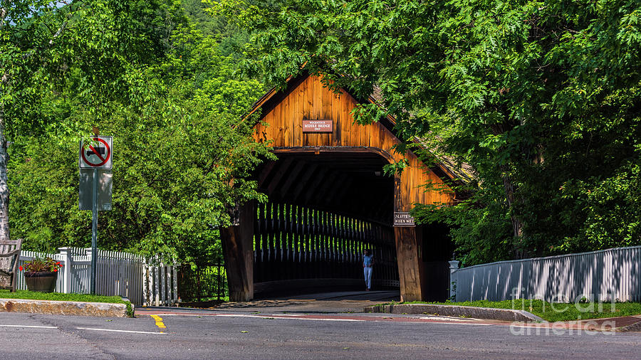 Summer at the Middle Bridge by Scenic Vermont Photography