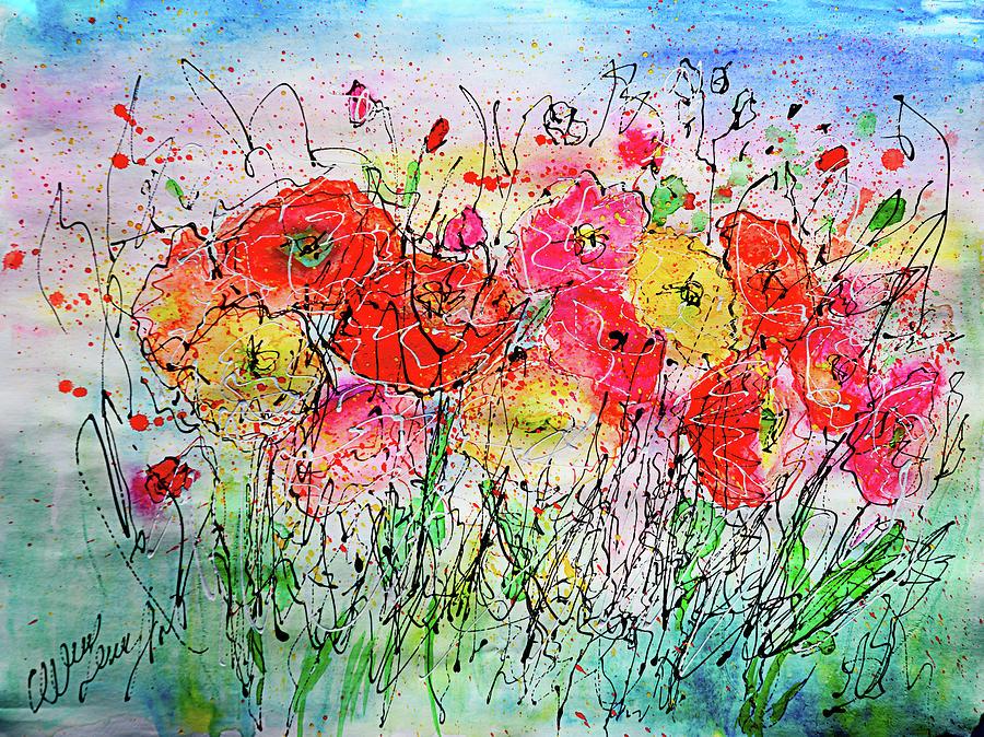 Summer  Bloom By OLena Art  by OLena Art - Lena Owens