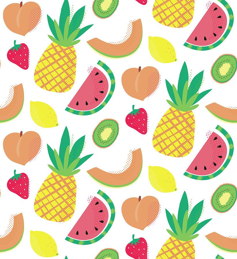 Fresh Digital Art - Summer Bounty Pattern 2 by Holli Conger
