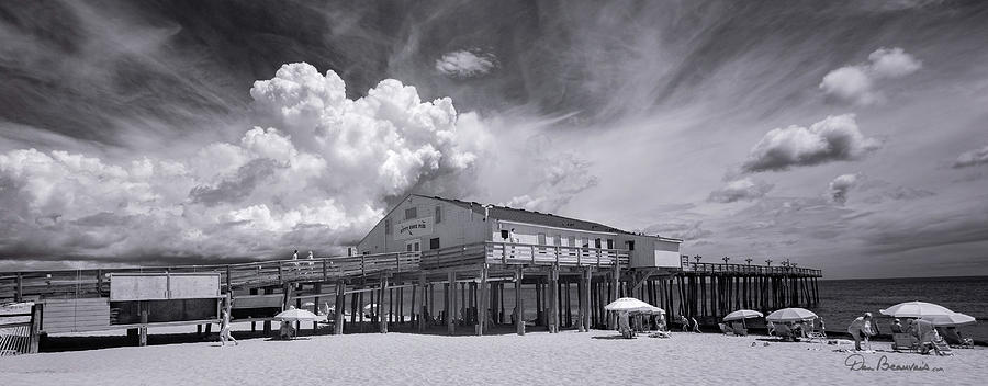 Summer Cloud Beyond Kitty Hawk Pier 7813 by Dan Beauvais