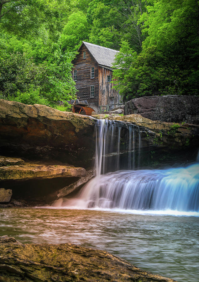 Summer Colors At Glade Creek Grist Mill by Dan Sproul