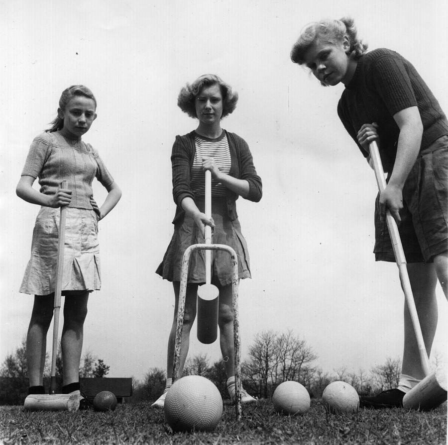 Summer Croquet Photograph by Fred Morley