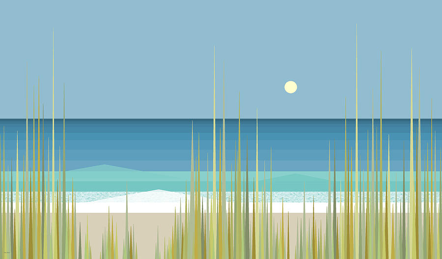 Summer Day at the Beach by Val Arie