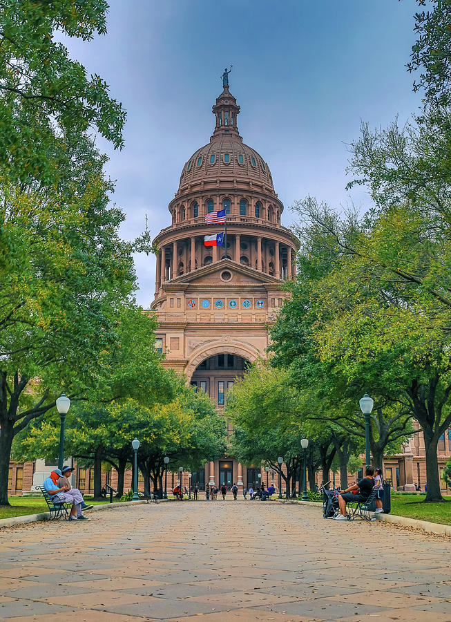 Summer Day At The Texas Capitol by Dan Sproul
