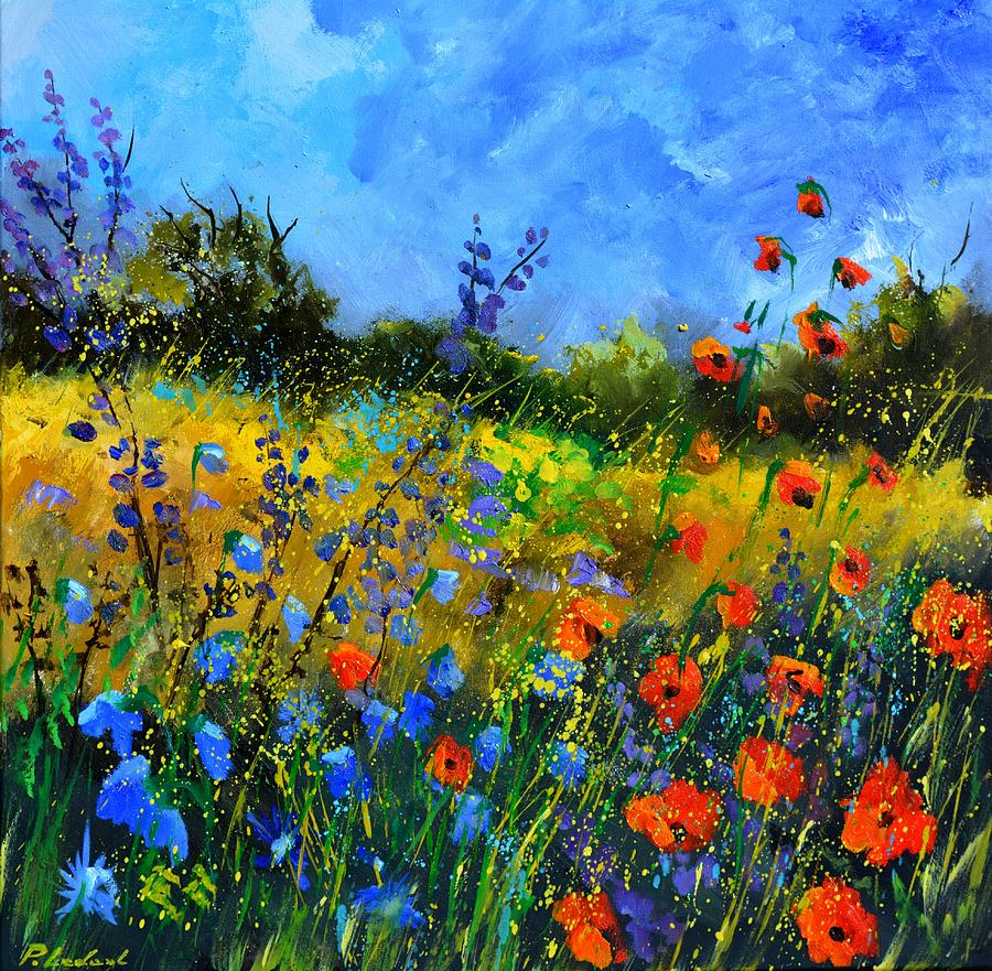 Summer field flowers Painting by Pol Ledent
