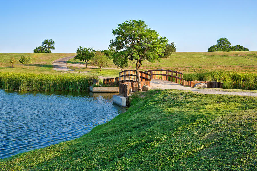 Summer Footbridge And Lake Photograph by Dszc