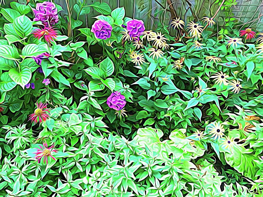 Summer Garden Expressionalism by Aimee L Maher ALM GALLERY