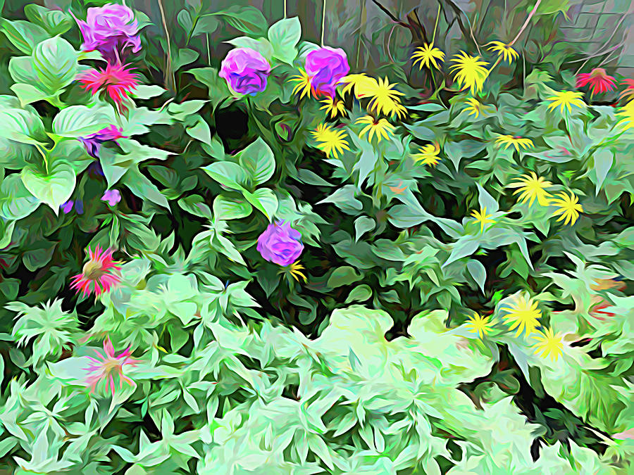 Summer Garden Melting Colors by Aimee L Maher ALM GALLERY