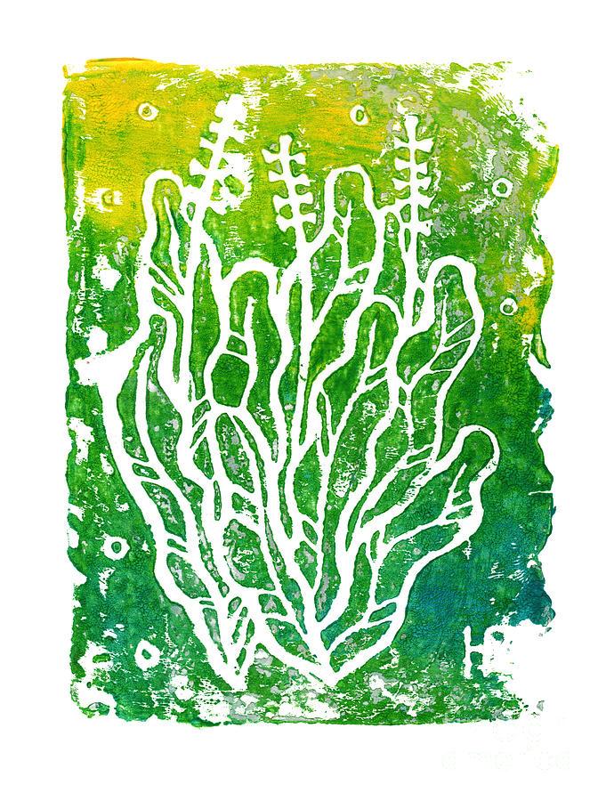 Summer Herbs, Green Yellow by Julia Khoroshikh