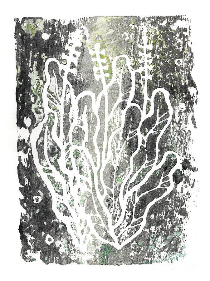 Summer Herbs, Simple Botanical, Greyscale by Julia Khoroshikh