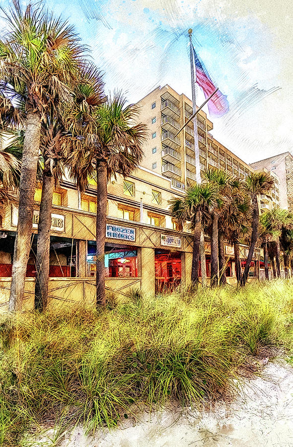 Summer in Ocean Drive by David Smith