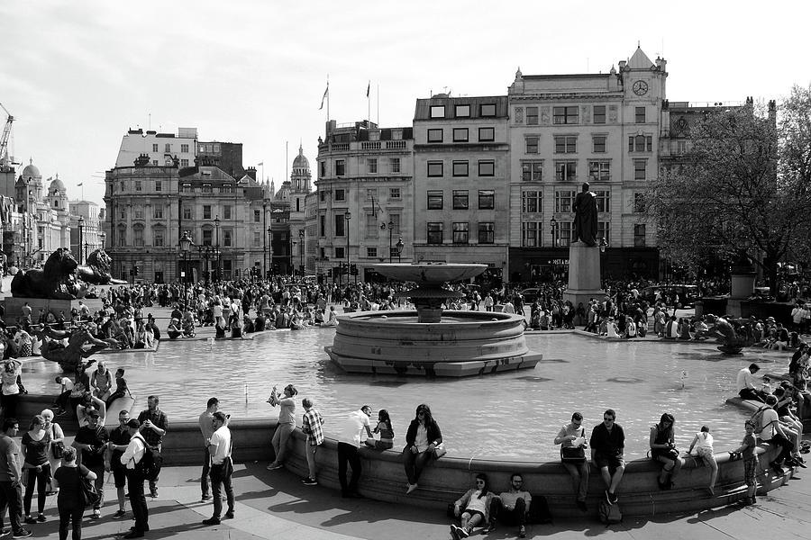 Summer in Trafalgar Square, London by Aidan Moran